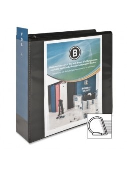 "Business Source 28449 Basic D-Ring View Binder, 3"", D ring, Polypropylene, Black, Each"