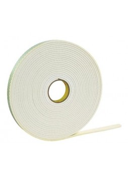 "3M™ 1/2"" x 36 yds. Double Coated Foam Tape 4466, White"