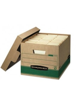 "Bankers Box® FastFold™ Stor/File™ Storage Boxes, Medium-Duty, 100% Recycled, Letter/Legal, 12/Carton, 10""H x 12""W x 15""D"