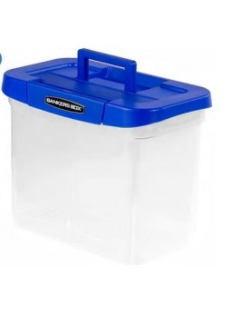 Bankers Box® Heavy-Duty Letter Size Portable Plastic File Box with Top Handle (0086301)