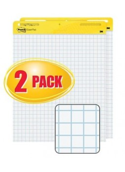 "Post-it®, Easel Pad, 25"" x 30"", Faint Blue Grid, White, 2/PK, (560)"