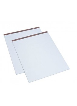 "TOPS® Standard Easel Pad, 50 Sheets, White - Plain, 27"" x 34"", 2/Ct"