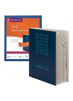 Smead® Desk File/Sorter, A-Z, Letter Size, 35% Recycled, Blue/Gray, Each
