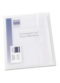 Avery 72278 Translucent Document Wallet, Letter size, 50 sheets capacity, Poly clear, Box of 12