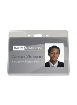 Baumgartens 47810 Proximity Badge Holder , Horizontal ID, Vinyl, Clear, Pack of 50