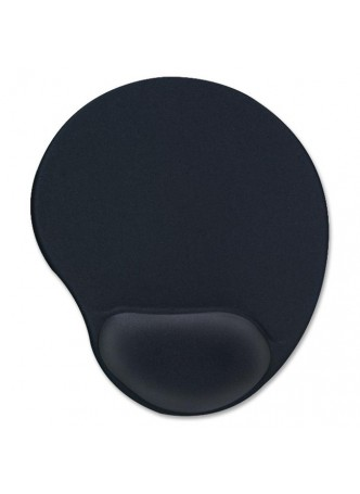 "Gel Mouse Pads - 9"" x 10"" x 1"" Dimension - Black - Gel"