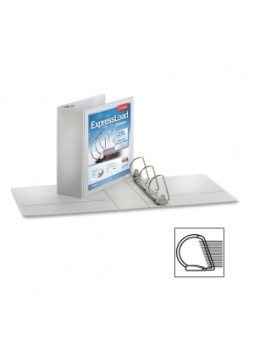 "Cardinal 49130 ExpressLoad ClearVue Locking D-Ring Binder, 3"", 675 sheets capacity, Letter size, Each"