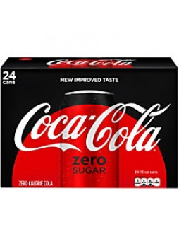 Coca Cola Zero, 12oz, Case of 24