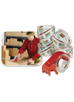 "Scotch 33506 Light - Duty Box Sealing Packaging tape, 1.87""x 64.5 yd - 3"" core, Clear, pack of 6"