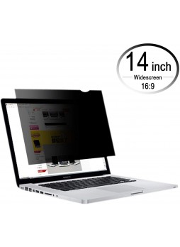 14 Inch Laptop Privacy Screen Filter for 16:9 Widescreen Display - Computer Monitor Privacy and Anti-Glare Protector