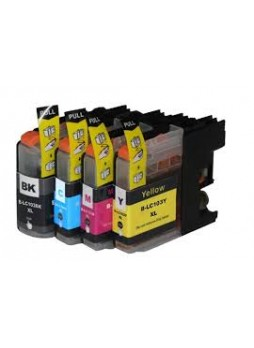 BROTHER LC103C, Remanufactured Ink Cartridge, Cyan, Each