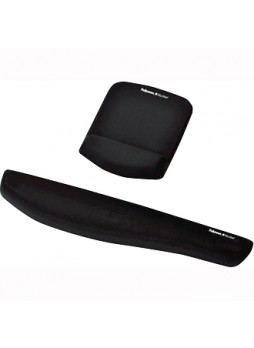 Fellowes 9252001 PlushTouch mouse pad/wrist Rest with foam Fusion Technology - Black