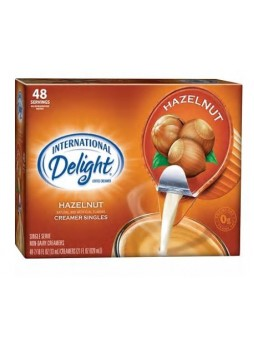 International Delight Liquid Hazelnut Creamer Cups, 48/BX