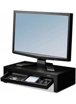 Fellowes Adjustable Monitor Riser with Storage Tray, 16 x 9 3/8 x 6, Black Pearl (8038101)