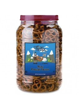 Office Snax Old Fashioned Mini Twist Pretzels - 2.50 lb - 1 Each