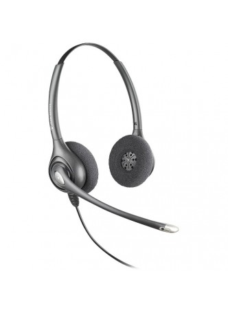 Plantronics SupraPlus Binaural Headset - Silver - Wired - Over-the-head - Binaural