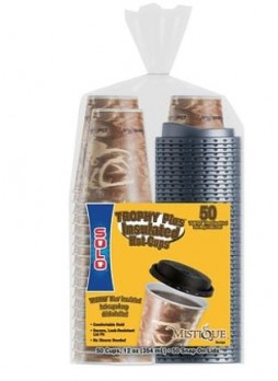Solo® Trophy® Plus™ Dual Temperature Insulated Hot Cups with Lids, 12 oz., 50/PK