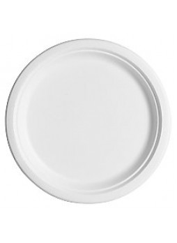 "Eco-Products Sugarcane Fiber Plates, 10"", White, Pack Of 50"