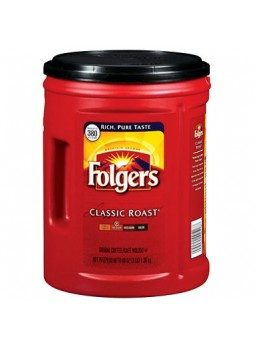Folgers® Coffee, Classic Roast, 48 Oz. Canister, Each