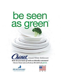 "Eco-Conscious Recycled content Chinet® 100% Recycled Heavy-Duty Paper Plates, 8 3/4"", Pack Of 125"