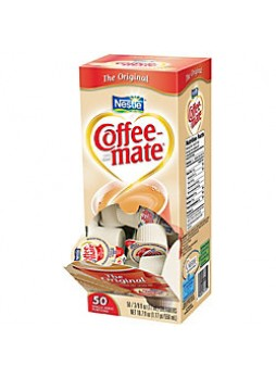 Nestle® Coffee-mate® Liquid Creamer Singles, Original, 0.38 Oz, Box Of 50