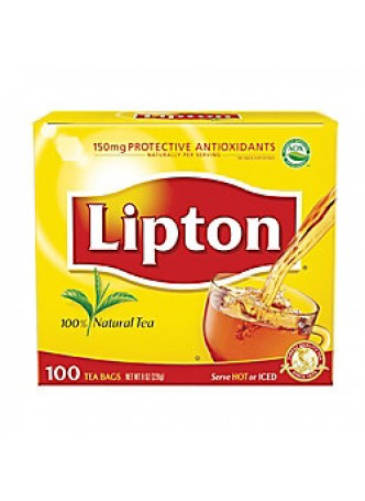 Lipton® Tea Bags, Black tea, Box Of 100