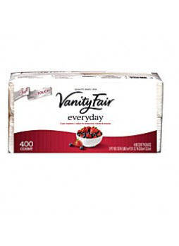 "Vanity Fair® Everyday Napkins, 2 Ply, 13"" x 12 3/4"", White, 400 Sheets"