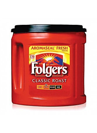 Folgers® Coffee, Classic Roast, 33.9 Oz. Canister, Each