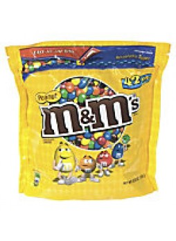 M&M's® Peanut Chocolate Candies, 42 Oz Bag  - 572166