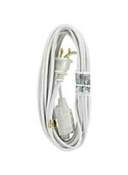 GE Polarized Extension Cord, 15', White - 847388
