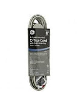 GE 3-Outlet Office Extension Cord, 8', Gray - 847478