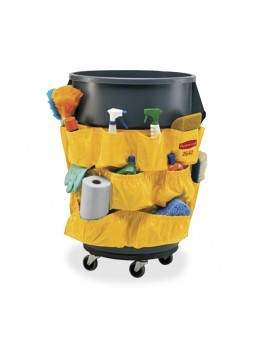 "Janitorial cart, 20"" x 20.50"" - Yellow - Nylon - 1Each - rcp264200yw"