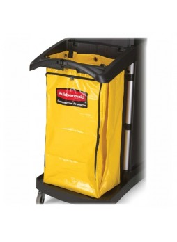"Janitorial cart, 34 gal - 10.50"" x 17.50"" x 33"" - Yellow - Vinyl - 1Each - rcp9t8000yw"