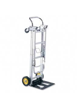 "Folding platform truck, 400 lb Capacity - 4 Casters - 6"", 3"" Caster Size(s) - Aluminum - 15.5"" Width x 43"" Depth x 36"" Height - Silver - saf4050"