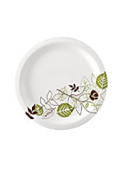 "Dixie Paper Plates, 8 1/2"" Diameter, Pathways Design, Pack Of 125"