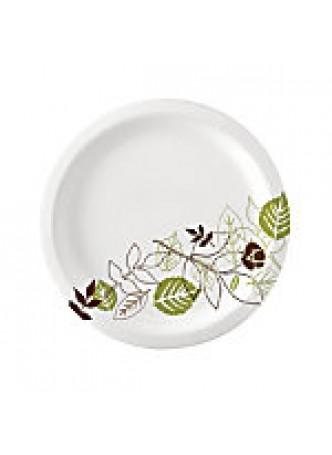 """Dixie Paper Plates, 6 7/8"""" Diameter, Pathways Design, Pack Of 125"""