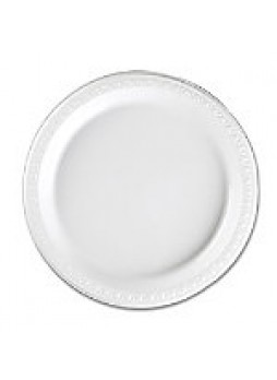 "Genuine Joe Reusable/Disposable 9"" Plastic Plates, White, Pack Of 125"