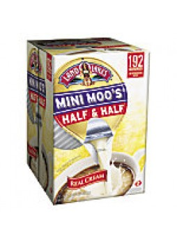 Land O'Lakes, Mini Moo's Half And Half Creamer, Single-Serve Cups, 0.28 Oz, Carton Of 192