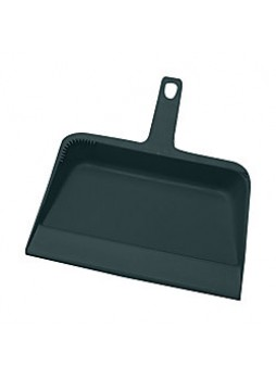 "Genuine Joe Heavy-duty Plastic Lobby Dust Pan, 12"" x 32"", Black, each"