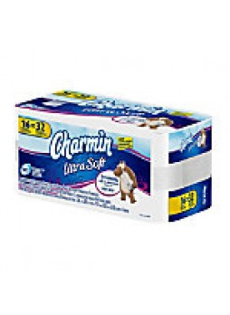 Charmin Ultra Soft Bath Tissue, White, 164 Sheets Per Roll, Pack Of 16 Rolls  - 230960