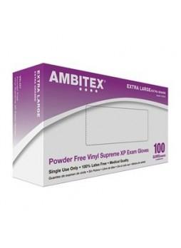 Tradex International Powder-Free Stretch Vinyl Exam Gloves, Medium, White, Box Of 100