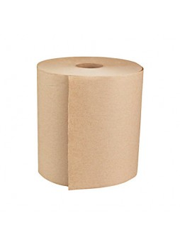 "General Paper 1-Ply Hardwound Roll Towels, Natural, 8"" x 800', Case Of 6"