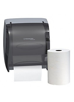 Kimberly-Clark Professional™ In-Sight™ LEV-R-MATIC™ Roll Towel Dispenser, Smoke Gray, each