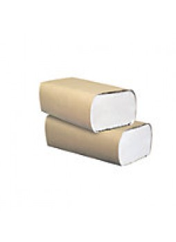 Highmark 100% Recycled Multifold Paper Towels, White, 250 Towels Per Sleeve, Carton Of 16 Packs  - 508415