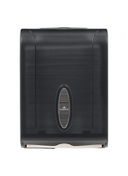 "Georgia-Pacific® See-Thru Combifold Towel Dispenser, 15 2/5"" x 11"" x 5 1/2"", Smoke, Each"