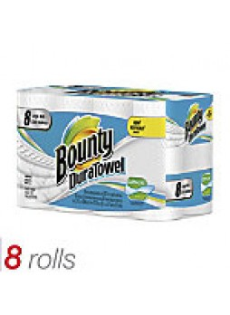 Bounty DuraTowel Paper Towels, 2-Ply, 53 Sheets Per Roll, Pack Of 8 Rolls - 808049