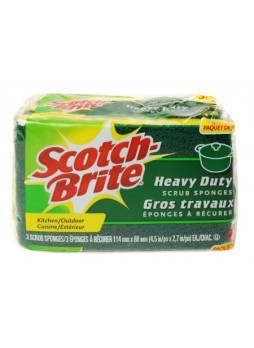 Scotch-Brite™ Scrub Sponges, Green/Yellow, Pack Of 3