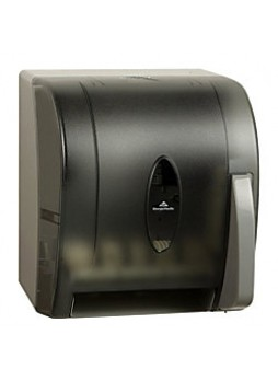 "Georgia-Pacific Vista® Hygienic Push Paddle Roll Paper Towel Dispenser, 14"" x 10 3/10"" x 12"", Smoke"