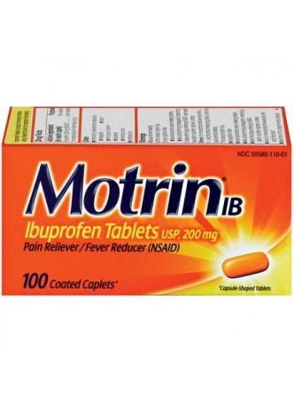 Motrin, Ibuprophen, 200mg, Fast reflief, Caps
