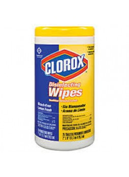 Clorox® Disinfecting Wipes, Lemon Fresh, Pack Of 75 Wipes, Each